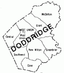 Map of Magisterial Districts of Doddridge County, WV